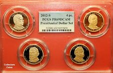 2012-S Presidential $1 Dollars 4 Coin Set in PCGS PR69 DCAM Multi-Holder