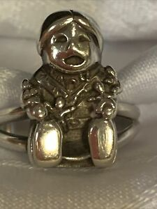 Carol Felley Native American Storyteller Sterling Silver Ring Size 9.5
