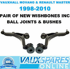MOVANO & MASTER VAN PAIR LOWER SUSPENSION WISHBONES ARMS BALL JOINTS BUSHES