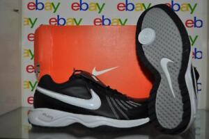 Nike Air Diamond Trainer 333785 012 Mens Baseball Shoe Size 8 Black/White NIB