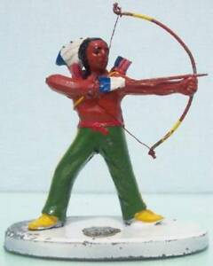 JAPAN HOLLOW CAST LEAD Y.K. INDIAN SHOOTING BOW VG