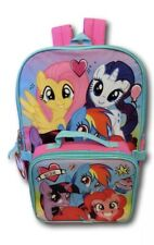 """My Little Pony 16"""" School Backpack With Lunch Box Set"""