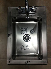 """New Heavy Duty Drop-In Hand Sink 19""""x13"""" Stainless Steel with Faucet"""