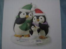 2012 Hallmark BABY MAKES THREE Ornament BABY'S FIRST CHRISTMAS Penguin Family