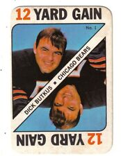 "1971 Topps Football game card  #1 Dick Butkus Chicago Bears ""12 Yard Gain"" EX/MT"