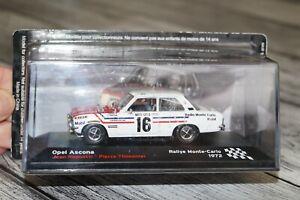 1:43 Ixo Altaya Opel Ascona A #16 J.Ragnotti P.Thimonier Rally Monte Carlo 1972