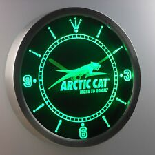 Arctic Cat Snowmobile 3D Neon Sign LED Wall Clock NC0168-G