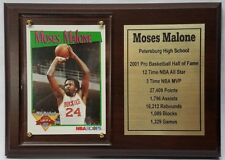 Moses Malone Houston Rockets Basketball Card Plaque