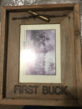 "Solid Barnwood Photo Frame ""First Buck""   5x7"
