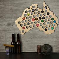 Australia Beer Cap Map Beer Cap Holder Display Beer Aficionado Gift Cap Collect