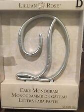 Lillian Rose Rhinestone, Large, Monogram Letter D, Silver