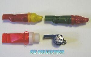 Gadget Sorprese Giochi Vintage anni '60 -'70 _ n°4 FISCHIETTI IN PLASTICA
