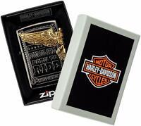 ZIPPO Lighter Harley Davidson Japan Limited Model Side Metal Black Gold HDP-48