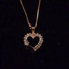 14K Gold Heart Pendant A48