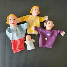 Vintage Fairy Tale Hand Puppets Family of 4