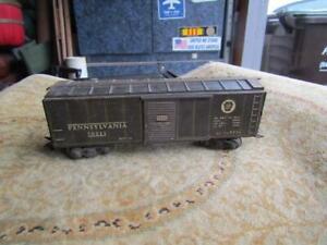"Marx Pennsylvania PRR Tin  Green Train Boxcar 70311 8"" Long  Vintage"