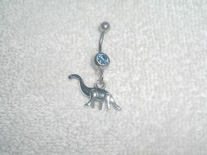 Dinosaur Charm Belly Button Navel Ring Body Jewelry Piercing