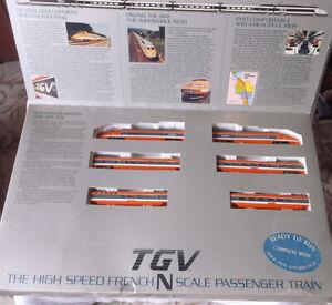 Bachmann N Scale TGV High Speed French Passenger Train in Original Box Hong Kong