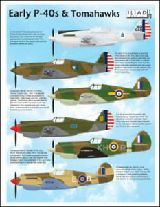 Early P-40s and Tomahawks in USAAC, RAF, RCAF (1/72 decals, Iliad 72014)