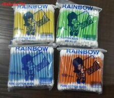 Ear Buds Rainbow Pure Cotton Two Way Tip Swab in Multi-Color