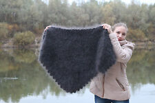 Russian Shawl Triangular 100% wool goat down. Fluff (Scarfs)Handmade