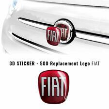 Adesivo Fiat 3D Ricambio Logo per 500