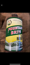 Fountain Brew - Wisconsin Cone Top - Vintage Beer Can !