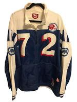 Ecko Unltd Vintage Reversible Football Jersey Zip Front Jacket Men's 2XL