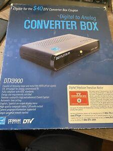 Digitalstream Digital to Analog Converter Box Model DTX9900 DTV Tuner Unused Ope