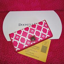 Dooney & Bourke Sanibel Slim Wallet Hot Pink
