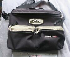 Vintage 1990s Quiksilver black & green shoulder laptop bag