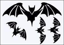 BAT WINGS ASS SIZES RE USEABLE 190m  MYLAR STENCIL - A5 - LARGE BAT 18 x 7.5 cm