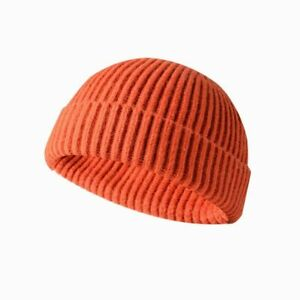 Cuff Beanie Knit Hat Winter Warm Cap Slouchy Ski Hats Men Women Plain Color