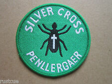 Silver Cross Penllergaer Woven Cloth Patch Badge Boy Scouts Scouting
