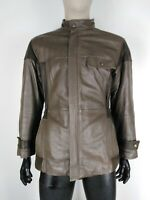 CAPPOTTO VINTAGE in PELLE Giubbotto Jacket Giacca Tg 50 Uomo Man