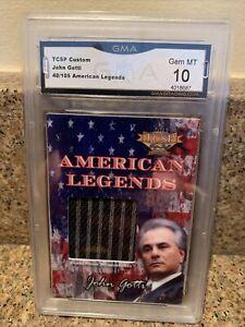 John Gotti Mafia Gangster Worn Memorabilia Card Only 105 Made Very Rare! GMA 10