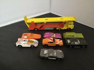 B996-MATCHBOX KING SIZE K-11 DAF TRANSPORTER AND SEVEN CARS