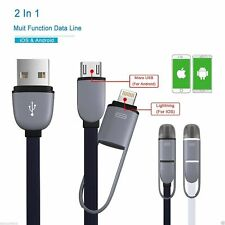 2 in 1 Micro USB Lightning Sync Data Fast Charging Cable For iPhone IOS& Android