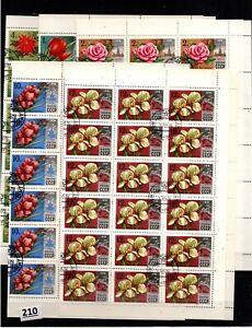 # 30X RUSSIA 1978 - CTO - FLOWERS, FLORA - SHEETS BENT