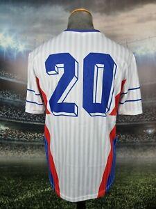 Yugoslavia 1990 World Cup Away Remake Football Shirt Jersey XL Suker #20 Croatia