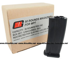 MAG Box of 6 Pieces Value Pack 50rds Magazine for MP7 Airsoft AEG