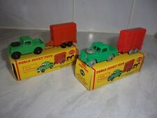 Dinky Dublo 073 Land Rovers and Horse Trailers with Horses Two Variations, Boxed