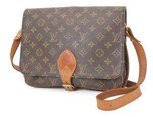 Auth Vintage LOUIS VUITTON Cartouchiere GM Monogram Shoulder Bag Purse #40420