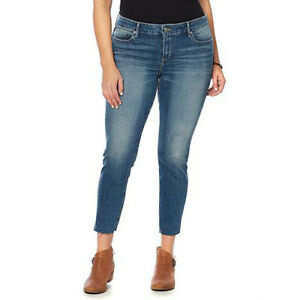 Lucky Brand Women's Blue Jeans Emma Crop Sunbeam Curvy Denim Retail