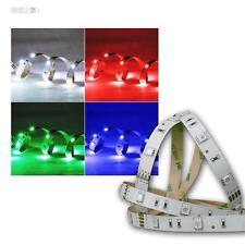 SMD LED flex Stripe Streifen 12V RGB LEDs 5m Lichtband selbstklebend Leiste RGBs