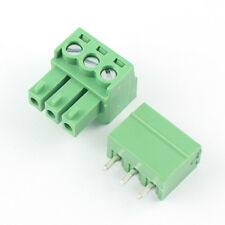 10Pcs 3.81mm Pitch 3 Pin Straight Screw Pluggable Terminal Block Plug Connector