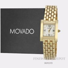 Authentic Movado Women's Luko 14k Gold Square Wrist Watch 0691193