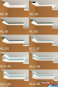 SAMPLE XPS LED COVING - UPLIGHTER CORNICE LIGHTWEIGHT -BEST PRICE -FAST SHIPPING