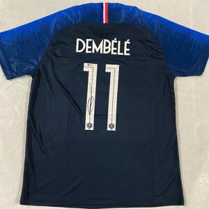 Ousmane Dembele Signed Team France Soccer Jersey Autographed Beckett BAS COA