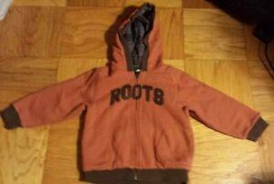 Roots Kids Canada Zip Hoodie Hooded Jacket Zipper Orange Pumpkin Size 4T 4Years